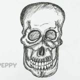 страшный череп