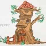 Как нарисовать дерево - дом
