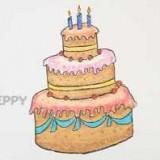 большой, красивый торт