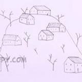 зимнюю деревню