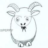 Как нарисовать забавного козла
