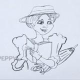 женщину с книгой