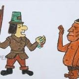 солдата и индейца