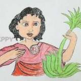 женщину с растением