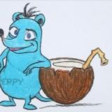 мышь с кокосом