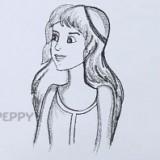 девушку с длинными волосами