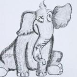 сидящего слона