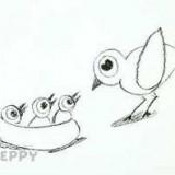 птицу с птенцами