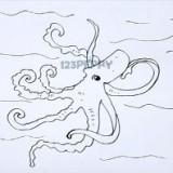 симпатичного осьминога